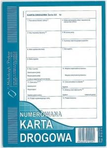 DRUK KARTA DROGOWA NUMEROWANA A5 815-3N