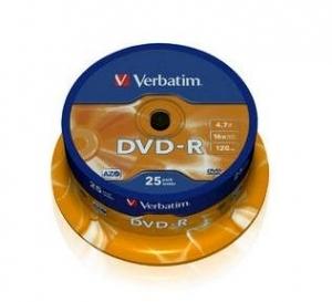 PŁYTA DVD-R VERBATIM 4.7GB /25SZT/