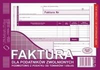 DRUK FAKTURA DLA POD ZWOLNIONYCH PODMIOTOWO 203-3E