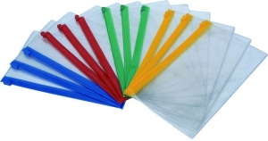 TECZKA ZIPP BAG A4 PVC Z SUWAKIEM (5526)