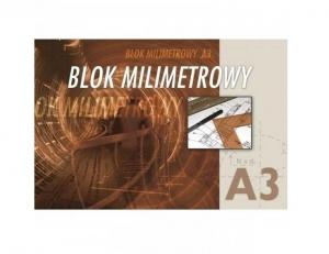 BLOK MILIMETROWY A3 KRESKA 20 KARTEK