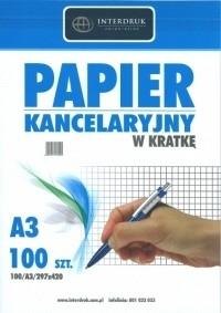 PAPIER KANCELARYJNY A3 # 100SZT INTERDRUK