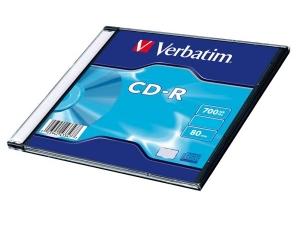 PŁYTA CD-R VERBATIM 700 MB SLIM