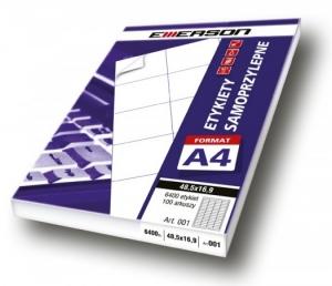 ETYKIETA SAMOPRZYLEPNA A4 EMERSON 210x148  /030/