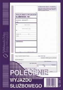 DRUK POLECENIE WYJAZDU SŁUŻBOWEGO 505-3