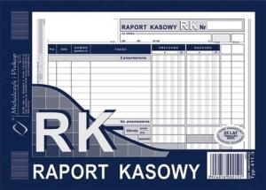 DRUK RAPORT KASOWY A5 411-3