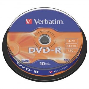 PŁYTA DVD+R VERBATIM 4.7GB /10SZT/
