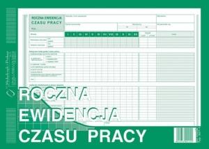 DRUK ROCZNA EWIDENCJA CZASU PRACY A4 527-1