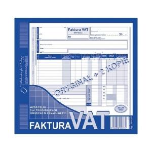DRUK FAKTURA VAT NETTO O+2K 2/3 A4 102-X