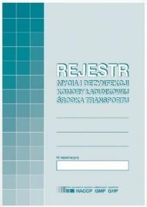 DRUK REJESTR MYCIA I DEZYNFEKCJI KOMORY ŁAD. H91-3