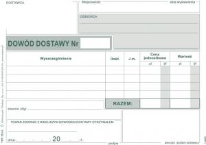 DRUK DOWÓD DOSTAWY A6 315-5