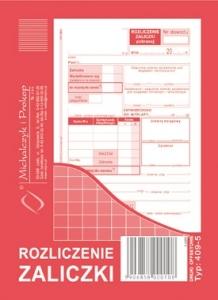 DRUK ROZLICZANIE ZALICZKI 409-5