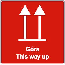 ETYKIETA 10/10 CM--GÓRA / THIS WAY UP-- 100 SZT.