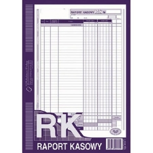 DRUK RAPORT KASOWY A4 410-1