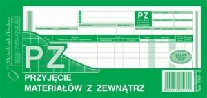 DRUK PZ PRZYJĘCIE MATERIAŁU Z ZEWNĄTRZ 1/3 A4 352-8