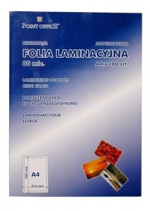 FOLIA DO LAMINACJI POINT OFFICE A4 80MIC