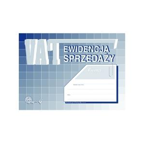 DRUK EWIDENCJA SPRZEDAŻY VAT A5 VU-4U