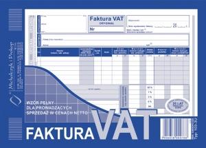 DRUK FAKTURA VAT NETTO A5 (O+K) PEŁNA 130-3N/E