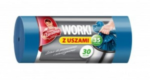 WORKI NA ŚMIECI 35L Z USZAMI /30/ ANNA ZARADNA