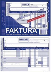 DRUK FAKTURA VAT NETTO A5 OR.+2K 103-XN/E