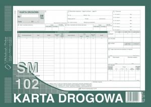 DRUK KARTA DROGOWA SAMOCHODU CIĘŻAROWEGO A4 801-1