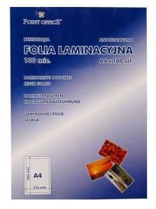 FOLIA DO LAMINACJI POINT OFFICE A4 100 MIC