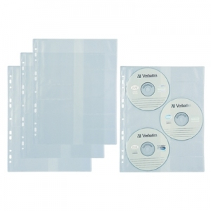 KOSZULKA BIURFOL A4 NA 3 CD DO SEGREGATORA 10SZT