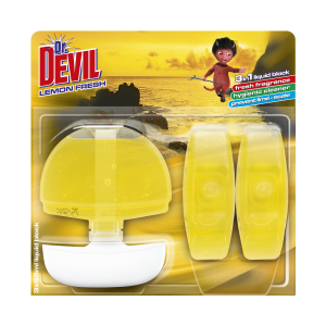 WC KOSZYK DEVIL 3X55ML LEMON FRESH