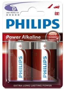 BATERIA PHILIPS LR20 ALKALINE POWER LIFE