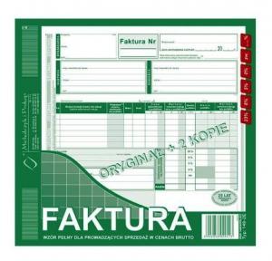 DRUK FAKTURA VAT BRUTTO PŁATNIK/ODB 2/3 A4 148-2E