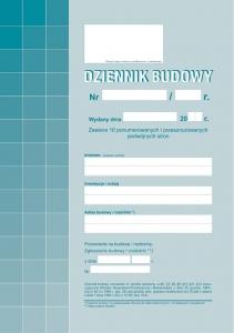 DRUK DZIENNIK BUDOWY A4 603-1