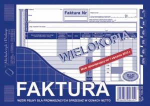 DRUK FAKTURA VAT NETTO A5  PEŁNA WIEL. 100-3E