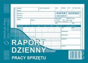 DRUK RAPORT DZIENNY PRACY SPRZĘTU A5 790-3