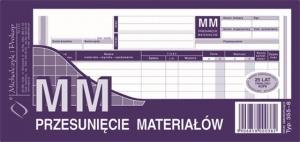 DRUK MM PRZESUNIĘCIE MATERIAŁÓW WIELOKOPIA 1/3 A4 355-8