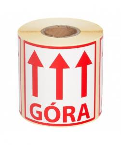 ETYKIETA 10/10 CM--GÓRA-- 100 SZT.