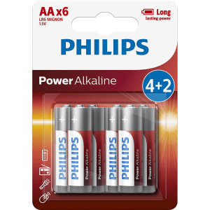 BATERIA PHILIPS LR06/AA ALKALINE POWER LIFE-6szt