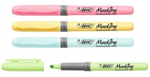 ZAKREŚLACZ BIC HIGHLIGHTER GRIP 4 KOL PASTEL
