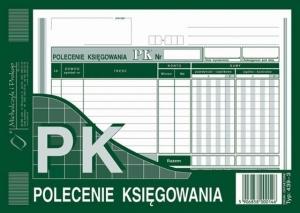 DRUK PK POLECENIE KSIĘGOWANIA A5 439-3
