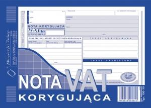 NOTA KORYGUJĄCA VAT A5 108-3U/E